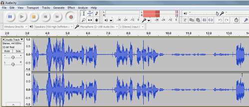 voice over software Audacity