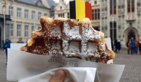 Vlaamse voice over met Belgische wafel